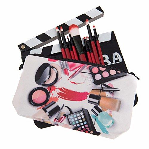 Kukubird Divertimento Nuovo Animale Foto Modello Stampa Make-up Bag Con Sacchetto Di Polvere Di Kukubird Make-upCircle