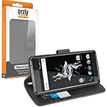 Orzly® - Multi-Functional Wallet Stand Case para OnePlus X SmartPhone (Dual SIM 2015 Modelo Teléfono Móvil - OxygenOS UI Version) - FUNDA con PORTFOLIO más SOPORTE INTEGRADO y Tapa magnética - NEGRO