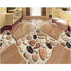 3D Boden wandbild Tapete für Wände 3 d Bodenbelag Malerei Naturstein Fliesen dreidimensionale Kiesel Mode schöne Tapeteboden wandaufkleber