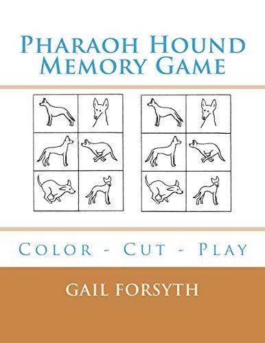 Pharaoh Hound Memory Game: Color - Cut - Play por Gail Forsyth