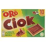 Oro Saiwa Biscotti Ciok con Tavoletta di Cioccolato alla nocciola, 250 g