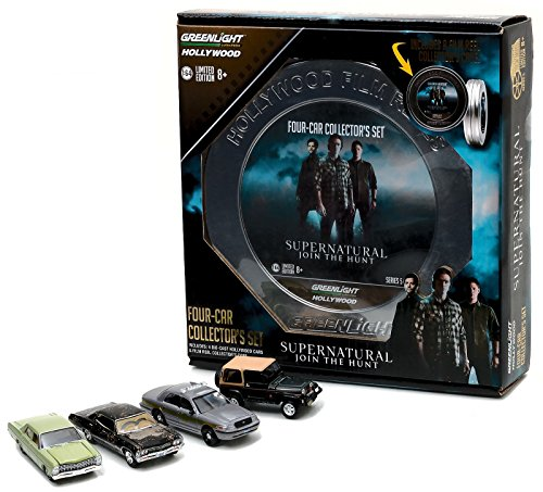 supernatural-4-car-set-chevrolet-impala-dirty-ford-customjeep-police-greenlight-164