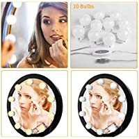 BEAUTME Hollywood Spiegelleuchten LED Schminkspiegel Beleuchtung Kit Vanity Set Spiegel mit 10 dimmbaren Glühbirnen, Beleuchtungskörper Streifen für Make-up Schminktisch Set (Spiegel nicht enthalten)