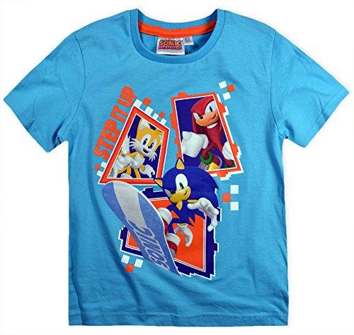 Niños Sonic el erizo T Shirt Kids camiseta de manga corta nuevo Azul agua