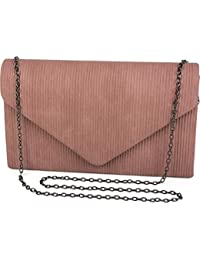 styleBREAKER Bolso de Mano «Clutch» de Mujer en óptica de Pana con Borde Decorativo