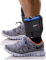 Sporteq - Pulseras de resistencia para entrenamiento de fuerza con pesos ajustables para muñeca y tobillo