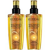 L'Oreal Paris Ceramide Total Repair 5 Multi-Restorative Dry Oil, 3.4 fl oz (Pack of 2)