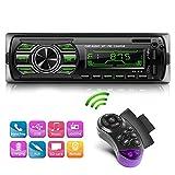 NWOUIIAY Radio para Coche Reproductor MP3 de Coche Radio MP3 USB Estéreo para Automóvil Llamadas Manos Libres para USB SD FM Teléfono AUX
