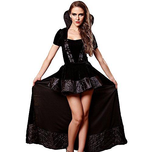 Kostüm Vampir Unsterblichen - FIZZENN Exy Frauen Vampire Queen Kostüm Vintage Gothic viktorianischen Korsett Bustier Prom Rock Halloween Cosplay,L