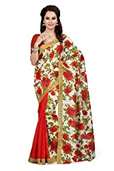 ishin Saree with Blouse Piece (Ishinsp-DP-175_Beige_Free Size)