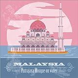 Poster 90 x 90 cm: Malaysia - Putrajaya-Moschee von Editors