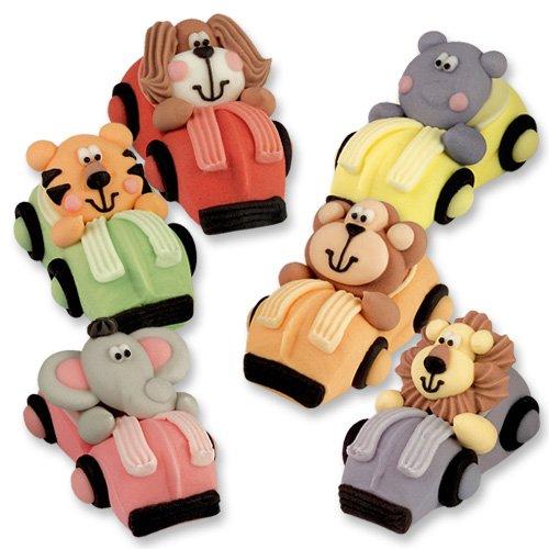 12 Zootiere im Auto - aus Zucker (Lustige Affen-figuren)