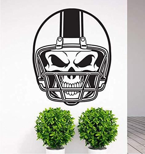 limicry Abnehmbare American Football NFL Helm Schädel Vinyl Wandtattoo Kunst Aufkleber Home Wohnzimmer Schlafzimmer Wand Decor Wandbild Sport 57X71 cm 57 Nfl Football