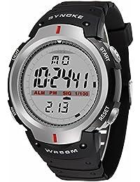 Deportivos Hombre Relojes - Correa de Caucho Multifuncion EL Light Alarma Calendario 12/24 Hora Digital Relojes de…