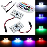 #9: Kozdiko RGB 12 LED Roof Light with IR Remote Car Fancy Lights For Chevrolet Enjoy