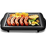 1200W Indoor Electric Teppanyaki Griddle Classic Plate Barbecue Grill Adjustable Temperature Easy Clean