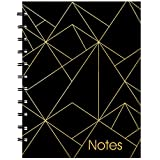 Blueline MiracleBind Notebook, Gold Collection, Black, Large, 11 x 9 1/16 inches (AF3100.02)