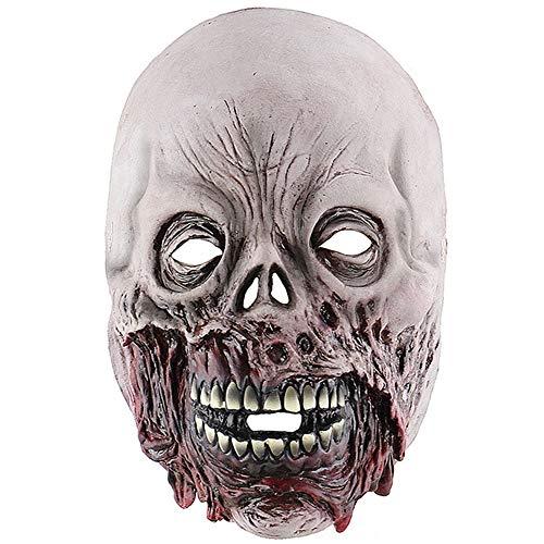 Jnzr Gruselige Zombie Maske, Halloween Gruselige Maske, Adult Bloody Horror Halloween Kostüm Maske Zombie Decaying Zombie Latex - Halloween City Kostüm