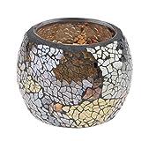 non-brand Sharplace Mosaik Teelichthalter Teelicht Halter Windlicht Kerzenhalter Mosaikglas Kugel für Wohnzimmer Schlafzimmer - Silber