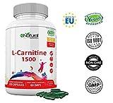 L-CARNITINA Natural 1500. Complemento L Carnitina Quemagrasas Mejora Energía...