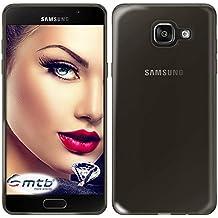 mtb more energy® Funda Clear & Slim para Samsung Galaxy A5 2016 (SM-A510, 5.2'')   transp.-negro   flexible   delgada   Gel TPU Silicona Carcasa Suave Cascara