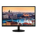 HKC 22P6 22 Zoll (54,6 cm) LED Monitor, Full HD (1920x1080), 1 ms Reaktionszeit, 2x HDMI, 1xVGA, Lautsprecher - Schwarz