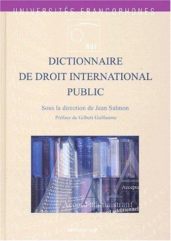 Dictionnaire de droit international public de Collectif (11 décembre 2001) Relié