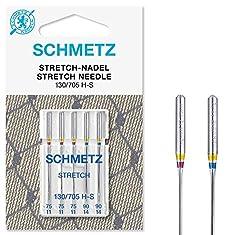 SCHMETZ Nähmaschinennadeln 5 Stretch-Nadeln | 130/705 H-S | Nadeldicken: 3X 75/11, 2X 90/14