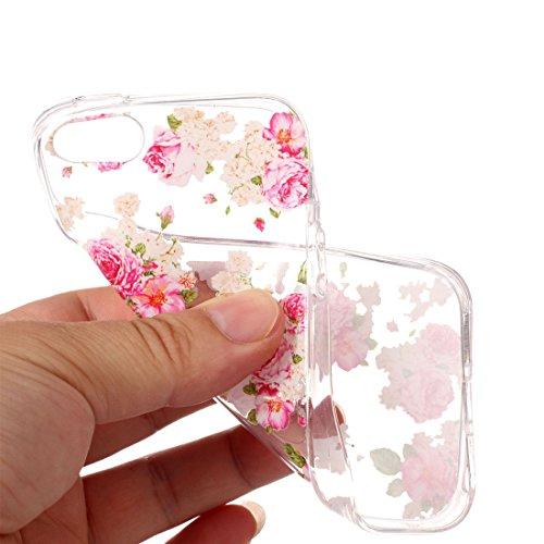 iPhone 5/SE/5S Custodia,Unicorno Modello di sollievo in vernice Custodia in TPU Gel Ultra sottile [Trasparente] Custodia protettiva in gomma flessibile case cover para for iPhone 5/SE/5S colour 9