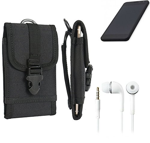 K-S-Trade Schutzhülle für Shift Shift5.3 Gürteltasche Gürtel Tasche extrem robuste Handy Schutz Hülle Tasche Outdoor Handyhülle schwarz 1x + Kopfhörer