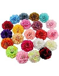 ZHIXUAN accesorios de sombrero de paja falda de la playa de la flor vacaciones de mar cabeza de la flor joyería del pelo de la flor clip de pelo grande flor peonía