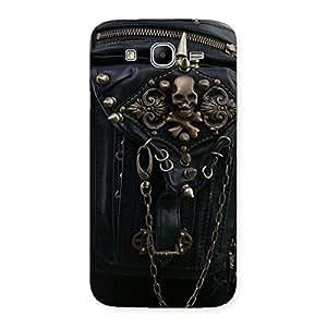 Premium Zip Chain Back Case Cover for Galaxy Mega 5.8