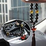 Silence Shopping Boucles d'oreilles de voiture Automobile Décoration de voiture Décoration d'ornement Rétroviseur Cristal pendentif pour la paix...