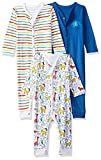 #7: Mothercare Baby Boys' Regular Fit Cotton Sleepsuit (Pack of 3) (PH654-1_Multicoloured_9-12 Months)
