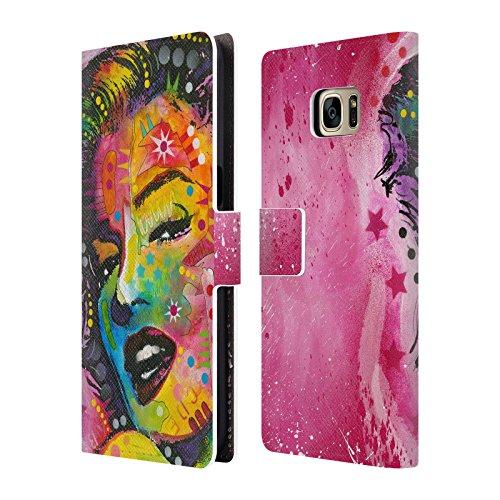 Ufficiale Dean Russo Marilyn Monroe Iconici Cover a portafoglio in pelle per Samsung Galaxy S7 edge
