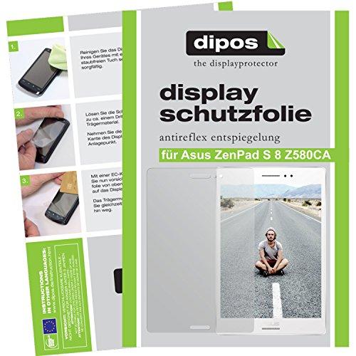dipos I 2X Schutzfolie matt passend für Asus ZenPad S 8 Z580CA Folie Bildschirmschutzfolie