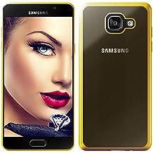 mtb more energy® Funda Style para Samsung Galaxy A5 2016 (SM-A510, 5.2'')   Oro   flexible   Gel TPU Silicona Carcasa Suave Cascara