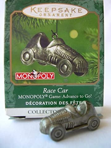 Hallmark Keepsake Ornament - Monopoly Race Car (MINIATURE ORNAMENT) 2001 (QXM5292) by Hallmark