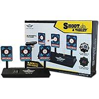 XuBa Kinder Schießen Spielzeug Elektrisch Ergebnis Kugel Ziel für Nerf Spielzeug Weiche Kugeln Blaster