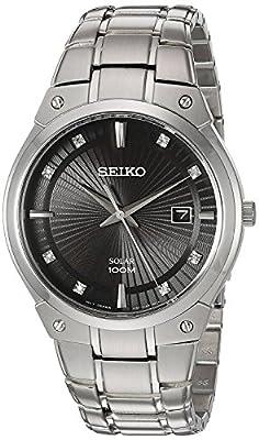 Seiko Reloj Analogico para Hombre de Energía Solar con Correa en Acero Inoxidable SNE429P9
