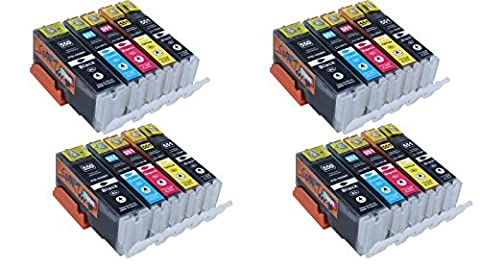 Start - 20 XL Cartouches d'encre compatibles avec Puce remplace Canon PGI-550BK XL Noir, CLI-551BK XL Photo-Noir, CLI-551C XL Cyan, CLI-551M XL Magenta, CLI-551Y XL Yaune