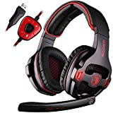 Sades SA903 7.1 Virtual Surround Sound USB Gaming Headset with Microphone Intelligent Noise