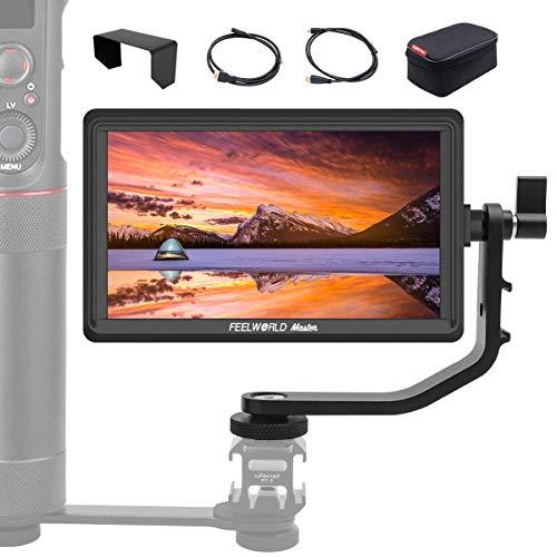 Feelworld Master MA6P 5.5' DSLR Monitor de Campo, Camera Field Monitor IPS 4K HDMI Full HD 1920x1080 Monitor de Cámara Réflex con 8.4V Entrada/Salida, Bolsa de Transporte Incluido