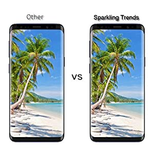 SPARKLING TRENDS 6.2-inches 3D Tempered Glass Screen Protector for Samsung Galaxy S9 Plus(Transparent)
