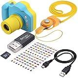TR Turn Raise Cámara Digital para Niños, 1.5 Pulgadas Pantalla LED de Color con Tarjeta de Memoria de 8GB (Azul)