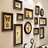 QU HUAI DONG AA Holz Bilderrahmen Kreative Wand-Foto Wand Wohnzimmer Hintergrund Wand Ornament Foto Wand Home
