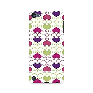 RAYITE Heart Pattern Premium Printed Mobile Back Case For Apple iPod Touch 6