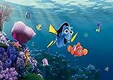 AG Design FTD 2223  Finder Nemo Disney, Papier Fototapete - 360x254 cm - 4 teile, Papier, multicolor, 0,1 x 360 x 254 cm