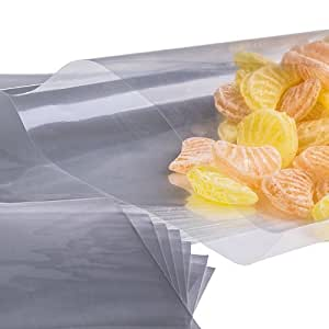 x50 (2 inch X 8 inch) Cellophane Cello Poly Display Bags Lollipops Cake Pop by Loypack