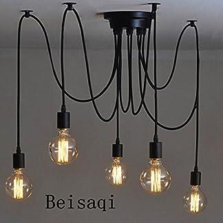 110-220V Vintage Edison Soffitto Apparecchio a Sospensione Industrial Light Lampada Regolabile Lampadario Nero